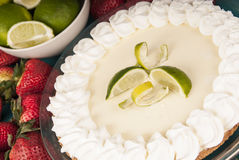 Fresh delicious Key Lime Pie Stock Photos