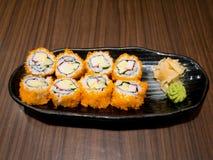 Fresh and delicious maki sushi Stock Image