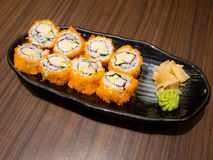 Fresh and delicious maki sushi Stock Photography