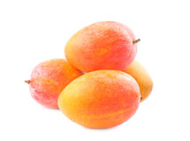 Fresh delicious mango fruit. Isolated on white background Royalty Free Stock Image