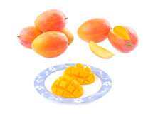 Fresh delicious mango fruit in dish Stock Photography