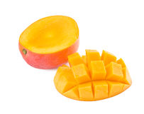 Fresh delicious mango fruit and slice Royalty Free Stock Photos