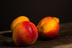 Fresh delicious nectarines Stock Photos