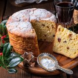 Fresh and delicious panettone Stock Photos