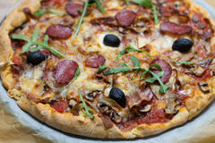 Fresh Delicious Pepperoni Pizza Royalty Free Stock Images