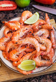 Fresh delicious prawns Royalty Free Stock Image