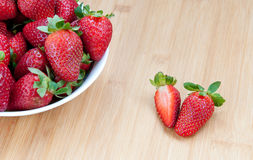 Fresh delicious red Strawberries Stock Photo