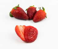 Fresh delicious red Strawberry fruits Stock Images