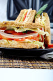 Fresh and delicious sandwich with toasters Royalty Free Stock Photo