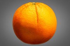 Fresh orange fruit  on grey background Stock Photos