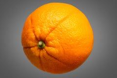 Fresh orange fruit isolated on grey background Stock Image
