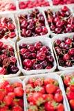 Fresh delicious strawberries macro stock images
