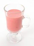 Fresh delicious strawberry milkshake isolated on white Royalty Free Stock Photo