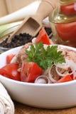 Fresh and delicious tuna salad Royalty Free Stock Photo