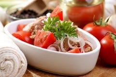 Fresh and delicious tuna salad Stock Photos