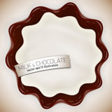 Fresh delicious vector chocolate and jelly or jam yougurt illustration Royalty Free Stock Image