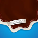 Fresh delicious vector chocolate and jelly or jam yougurt illustration Stock Photo