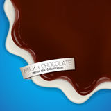 Fresh delicious vector chocolate yogurt illustration Stock Photo