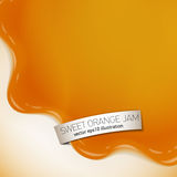 Fresh delicious vector orange jelly or jam yougurt illustration Royalty Free Stock Photos