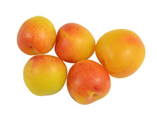 Fresh delicious yellow Plums Stock Photography