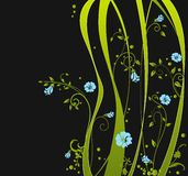 Fresh design. Fresh floral design in green and blue Royalty Free Stock Images