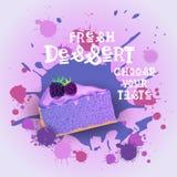 Fresh Dessert Banner Colorful Cake Sweet Beautiful Delicious Food Logo Royalty Free Stock Image