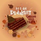 Fresh Dessert Banner Colorful Cake Sweet Beautiful Delicious Food Logo Stock Photo