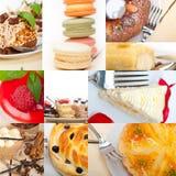 Fresh dessert cake collage Royalty Free Stock Photo