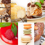 Fresh dessert cake collage Royalty Free Stock Photos