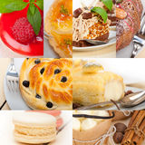 Fresh dessert cake collage Stock Photo