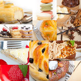 Fresh dessert cake collage Stock Photography