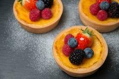 Fresh dessert fruit tart Royalty Free Stock Image