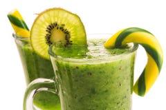 Fresh dessert kiwi beverage isolated Royalty Free Stock Images