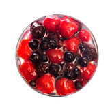 Fresh dessert with strawberry and currants Royalty Free Stock Photo