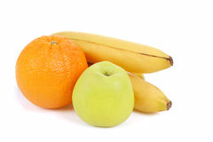 Fresh diet fruit, apple, orange and banana Royalty Free Stock Photo