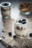 Fresh and diet muesli and yoghurt for breakfast Stock Photography