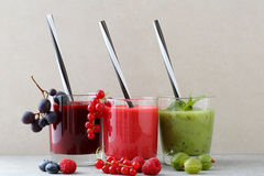 Fresh diet smoothie in glass. Summer beverage for healthy lifestyle Royalty Free Stock Images