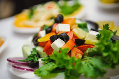 Fresh dietary salad from many ingredient Royalty Free Stock Photos