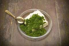 Fresh dill and butter Stock Photos