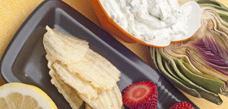 Fresh Dip Snack Stock Images