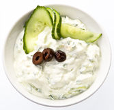 Fresh dip of Tzatziki Stock Images