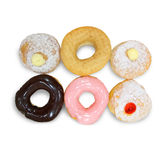 Fresh donut isolate on white background Stock Photos