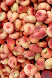 Fresh donut peaches background, photo taken at local farmers mar Royalty Free Stock Image