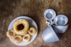 Fresh donut served Stock Photography