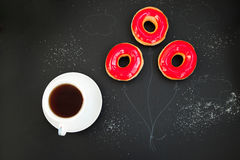 Fresh donuts for brakfast Stock Photos