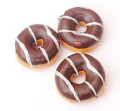 Fresh Donuts with chocolate Stock Photos