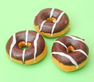 Fresh Donuts with chocolate Royalty Free Stock Photography