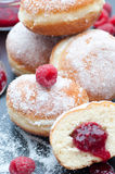 Raspberry Filled Donuts Stock Photography