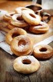 Fresh donuts with powder sugar Stock Photo