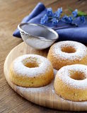 Fresh donuts sprinkled with  sugar Stock Image